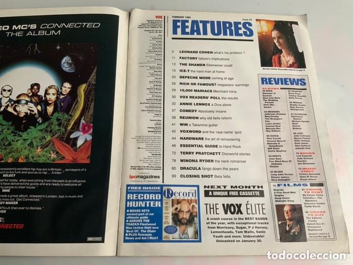 Revistas de música: Vox: February 1993 - UK Music Magazine - Depeche Mode, Annie Lennox, Ice-T - Foto 2 - 173925950