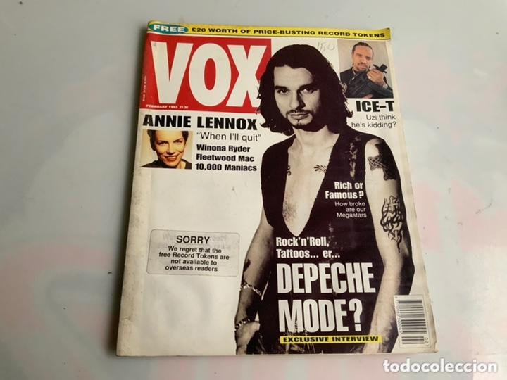 VOX: FEBRUARY 1993 - UK MUSIC MAGAZINE - DEPECHE MODE, ANNIE LENNOX, ICE-T (Música - Revistas, Manuales y Cursos)