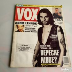 Revistas de música: VOX: FEBRUARY 1993 - UK MUSIC MAGAZINE - DEPECHE MODE, ANNIE LENNOX, ICE-T. Lote 173925950