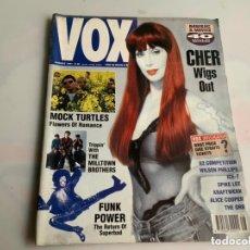 Revistas de música: VOX MAGAZINE AUG 1991. CHER COVER , ALICE COOPER, KRAFTWERK. Lote 173926409