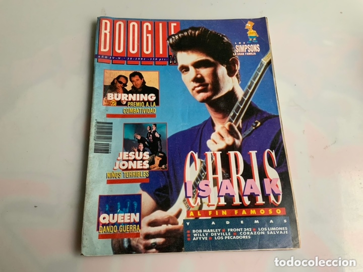 BOOGIE Nº 38 1991. BURNING, CHRIS ISAAK, JESUS JONES, QUEEN, BOB MARLEY, LOS LIMONES (Música - Revistas, Manuales y Cursos)