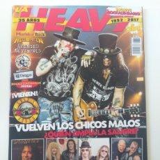 Revistas de música: LA HEAVY - Nº 389 - GUNS 'N' ROSES, EXTREMODURO, MEDINA AZHARA, ACCEPT, SABATON, EL DROGAS. Lote 174069395