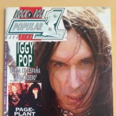 Revistas de música: POPULAR 1 NUM 254 IGGY POP PAGE PLANT AEROSMITH WHITE ZOMBIE THERAPY? JERRY LEE LEWIS. Lote 174364544