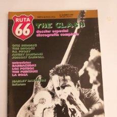 Riviste di musica: RUTA 66 Nº 49. THE CLASH, OTIS REDDING, THE TROGGS, HARLEY DAVIDSON, ANGRY SAMOANE, LA ROSA. Lote 174952105