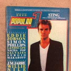 Revistas de música: POPULAR 1 N° 99 (SEPTIEMBRE '81). POSTER DE DEVO, STING, NACHA POP, LEÑO, OBUS, BARÓN ROJO, RUSH,.... Lote 175146939