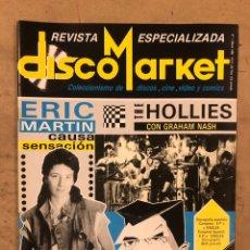 Revistas de música: DISCO MARKET N° 1 (MARZO '86). MOVIDA MADRILEÑA (ALASKA, KAKA DE LUXE, PARAISO, GABINETE,..), THE HO. Lote 175149248