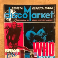Revistas de música: DISCO MARKET N° 2 (ABRIL- MAYO '86). THE WHO, GABINETE CALIGARI, TOM WAITS, LOS SANTOS, BRIAN ENO. Lote 175149454