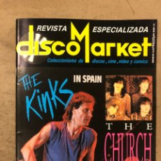 Revistas de música: DISCO MARKET N° 4 (MARZO '86). THE KINKS, THE CHURCH, PISTONES, PRISIONERS, BLUE MONKEYS, RESEÑAS. Lote 175149769