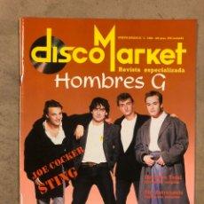 Revistas de música: DISCO MARKET N° 3 (1988). HOMBRES G, SINIESTRO TOTAL, PINK FLOYD, EL ÚLTIMO DE LA FILA, STING,.... Lote 175151017
