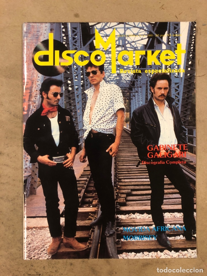 DISCO MARKET N° 4 (1988). GABINETE CALIGARI, MORRISEY, VENENO, RAMONCIN, CHRIS ISAAK, R.E.M.,... (Música - Revistas, Manuales y Cursos)