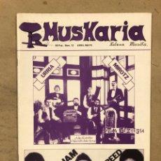 Magazines de musique: MUSKARIA N° 12 (ABRIL-MAYO 1982). ESKORBUTO, THE JAM, LOU REED, PUNK RENTERIA, IRON MAIDEN, UFO,... Lote 175152014