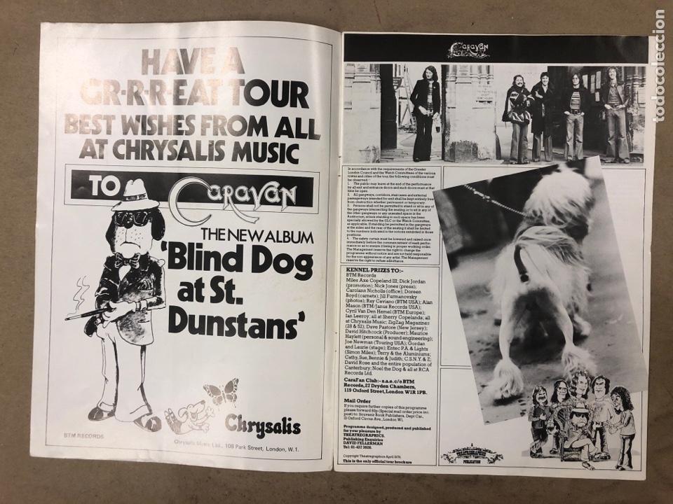 Revistas de música: CARAVAN. REVISTA PROMOCIONAL DE LA BANDA INGLESA DE ROCK PROGRESIVO-PSICODÉLICO. 1976 BTM RECORDS. - Foto 2 - 175154865