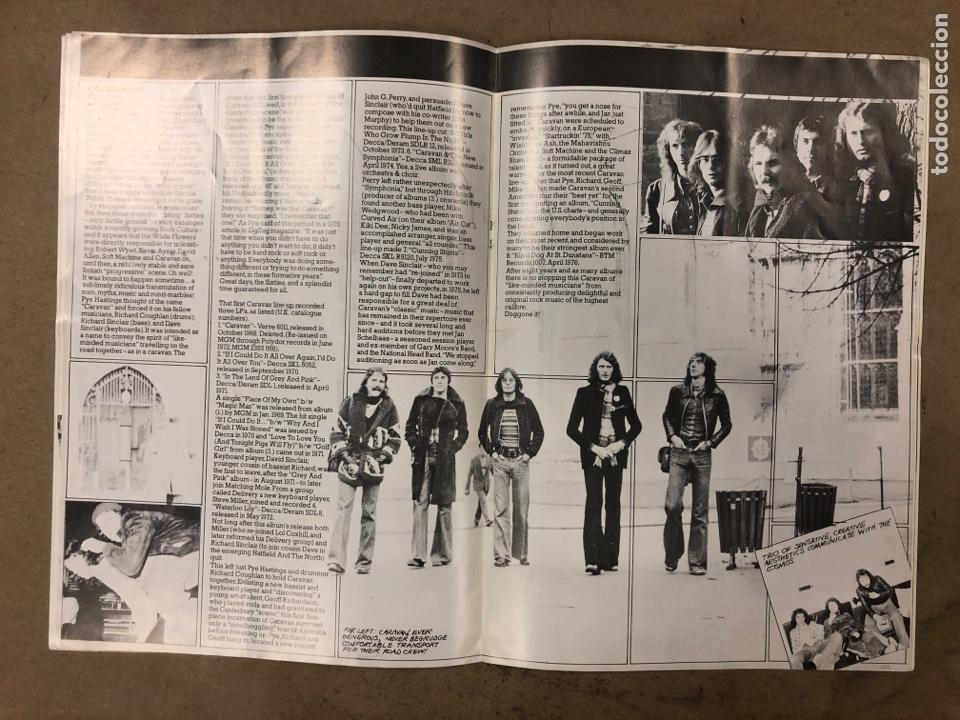 Revistas de música: CARAVAN. REVISTA PROMOCIONAL DE LA BANDA INGLESA DE ROCK PROGRESIVO-PSICODÉLICO. 1976 BTM RECORDS. - Foto 3 - 175154865