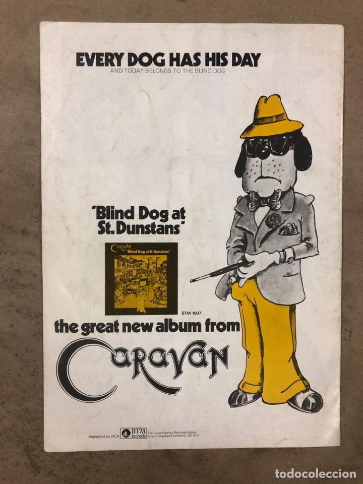 Revistas de música: CARAVAN. REVISTA PROMOCIONAL DE LA BANDA INGLESA DE ROCK PROGRESIVO-PSICODÉLICO. 1976 BTM RECORDS. - Foto 5 - 175154865
