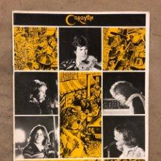 Revistas de música: CARAVAN. REVISTA PROMOCIONAL DE LA BANDA INGLESA DE ROCK PROGRESIVO-PSICODÉLICO. 1976 BTM RECORDS.. Lote 175154865