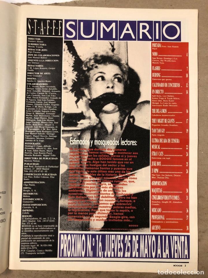 Revistas de música: BOOGIE N° 15 (MAYO '89). STRAY CATS, BURNING, MANOLO TENA, TAM TAM GO!, REPORTAJE CENSURA,.. - Foto 2 - 175282993