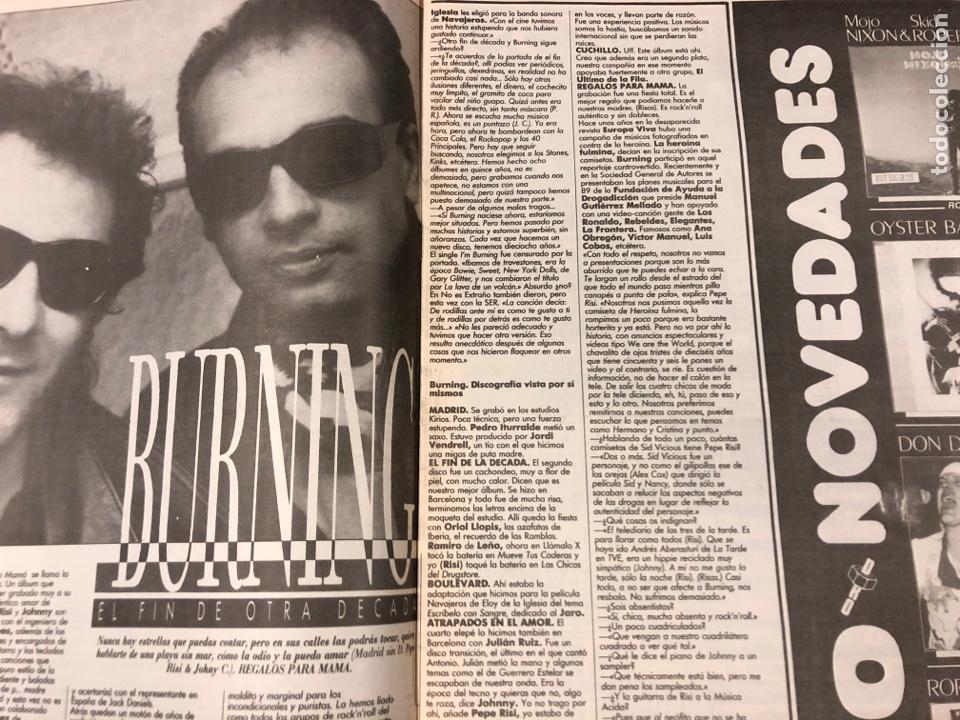 Revistas de música: BOOGIE N° 15 (MAYO '89). STRAY CATS, BURNING, MANOLO TENA, TAM TAM GO!, REPORTAJE CENSURA,.. - Foto 3 - 175282993