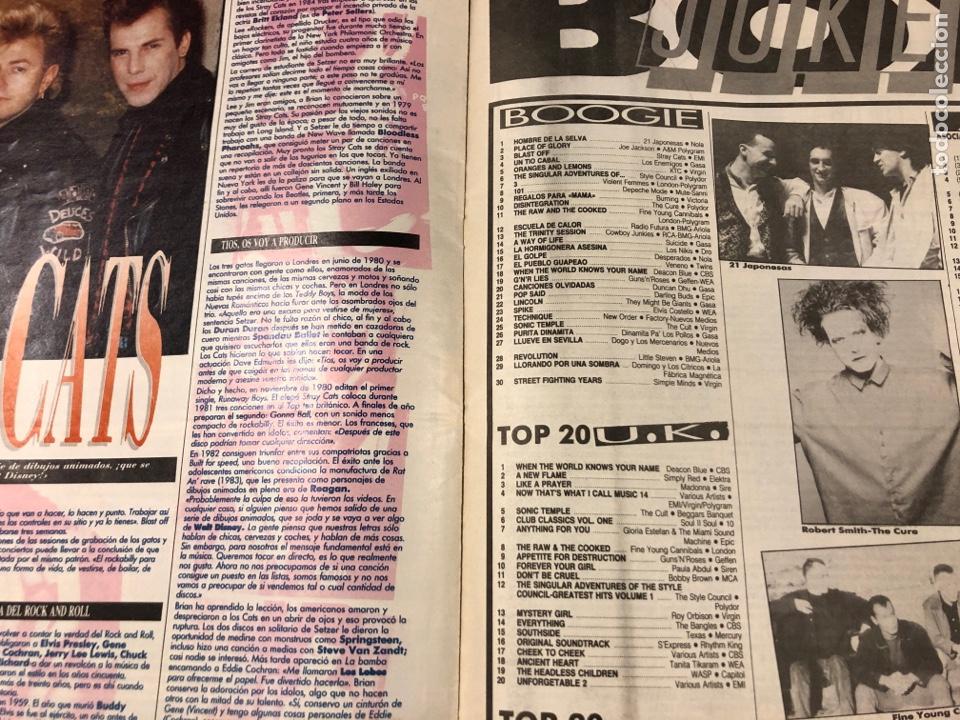 Revistas de música: BOOGIE N° 15 (MAYO '89). STRAY CATS, BURNING, MANOLO TENA, TAM TAM GO!, REPORTAJE CENSURA,.. - Foto 4 - 175282993