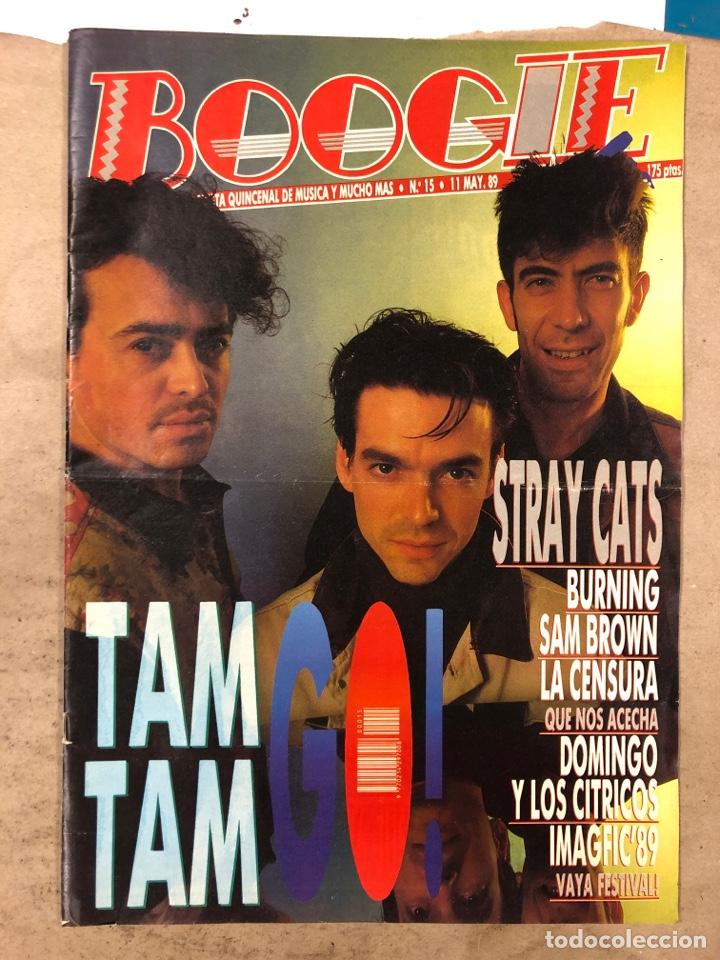 BOOGIE N° 15 (MAYO '89). STRAY CATS, BURNING, MANOLO TENA, TAM TAM GO!, REPORTAJE CENSURA,.. (Música - Revistas, Manuales y Cursos)