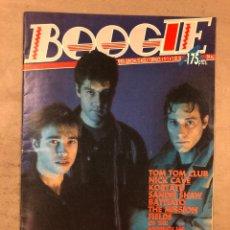 Revistas de música: BOOGIE N°5 (DICIEMBRE '88). NACHA POP, KORTATU, PALOMA CHAMORRO, FOTOGRAFÍA LOQUILLO Y SU NOVIA. Lote 175287004