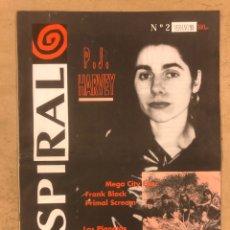 Revistas de música: SPIRAL N° 2 (VERANO '93). PJ HARVEY, LOS PLANETAS, EL INQUILINO COMUNISTA, PSILICON FLESH, PARALISIS. Lote 175290677