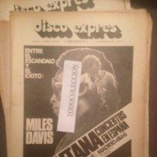 Revistas de música: DISCO EXPRES 251 : MILES DAVIS, PATXI ANDION, SANTANA, ROSA LEON, ROBERTA FLACK,DAVID BOWIE. Lote 175502553