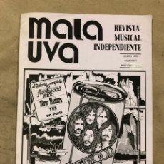 Revistas de música: MALA UVA N° 1 (MADRID 1978). REVISTA MUSICAL INDEPENDIENTE; FLEETWOOD MAC, KAKA DE LUXE, BEATLES, FE. Lote 175610813