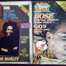 Revistas de música: REVISTA SAL COMÚN Nº 30-31 Y 32 (BOB MARLEY / MIGUEL BOSÉ / ROLLIG STONES). Lote 176259010