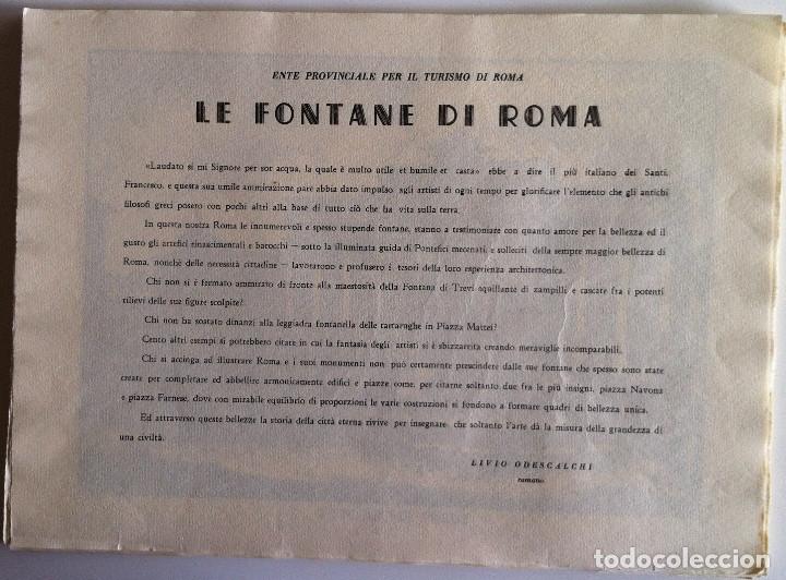 Revistas de música: Le Fontane Di Roma Carpeta (21+1 láminas), Ente provinciale per il turismo di Roma. 1951 - Foto 5 - 176560227