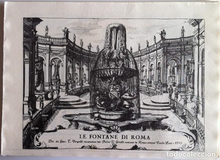 Revistas de música: Le Fontane Di Roma Carpeta (21+1 láminas), Ente provinciale per il turismo di Roma. 1951 - Foto 7 - 176560227