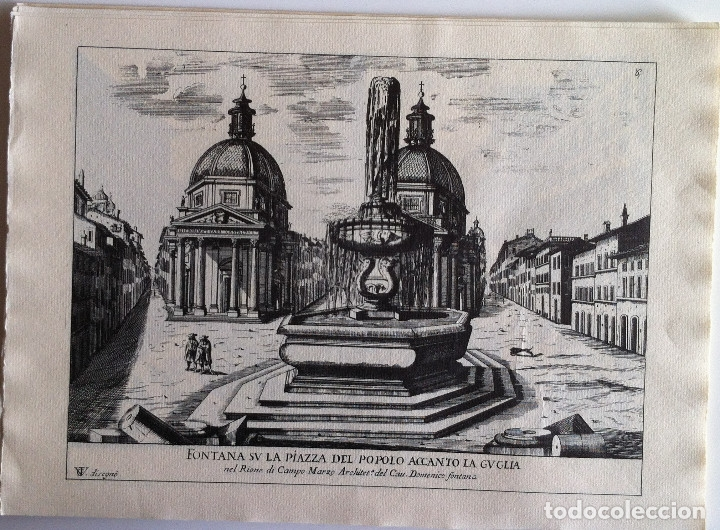 Revistas de música: Le Fontane Di Roma Carpeta (21+1 láminas), Ente provinciale per il turismo di Roma. 1951 - Foto 11 - 176560227