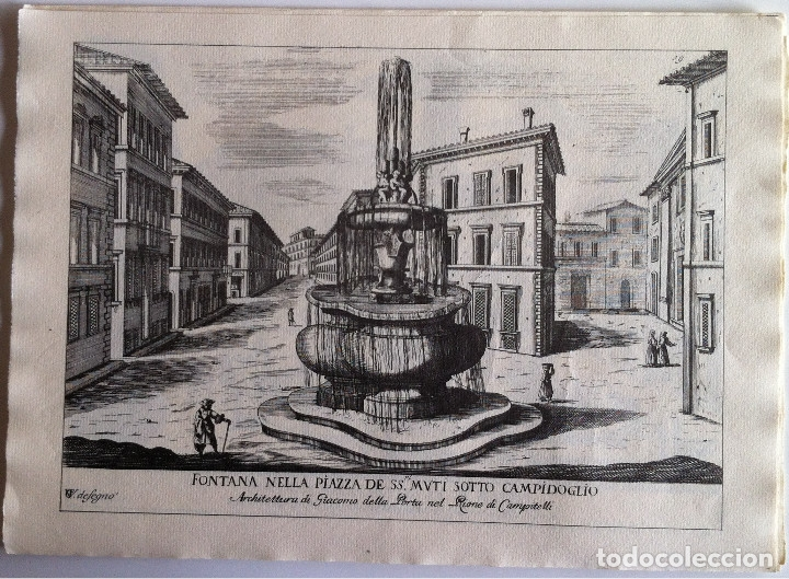 Revistas de música: Le Fontane Di Roma Carpeta (21+1 láminas), Ente provinciale per il turismo di Roma. 1951 - Foto 20 - 176560227