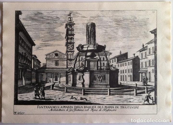 Revistas de música: Le Fontane Di Roma Carpeta (21+1 láminas), Ente provinciale per il turismo di Roma. 1951 - Foto 25 - 176560227