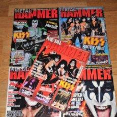 Revistas de música: METAL HAMMER LOTE 5 REVISTAS CON KISS EN PORTADA -MOTLEY CRUE-WASP-IRON MAIDEN(COMPRA MINIMA 15 EUR). Lote 176988393