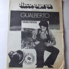 Revistas de música: DISCO EXPRES 400 GUALBERTO BEATLES ÑU NOEL REDDING PARACELSO BEATLES. Lote 177264053