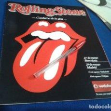 Revistas de música: SUPLEMENTO REVISTA ROLLING STONE ( CUADERNO DE LA GIRA 2005 )BARCELONA, MADRID, VALLADOLID, EL EJIDO. Lote 177615008
