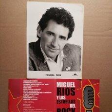 Revistas de música: MIGUEL RÍOS MATERIAL DE PRENSA. Lote 178099075