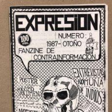 Revistas de música: EXPRESIÓN N° 1 (BARCELONA 1988). HISTÓRICO FANZINE ORIGINAL; MÁXIMO VOLUMEN, RADIOS LIBRES (RADIO P.. Lote 178224453