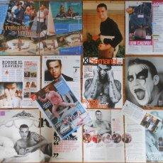 Revistas de música: ROBBIE WILLIAMS LOTE PRENSA 1990S/10S CLIPPINGS PHOTOS MAGAZINE ARTICLES CUTTINGS TAKE THAT. Lote 137492434