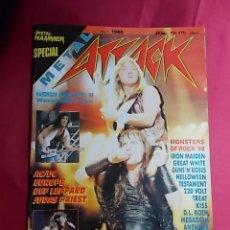 Revistas de música: REVISTA METAL ATTACK. SPECIAL METAL HAMMER. Nº 1. 1988. CON POSTER . Lote 180042670