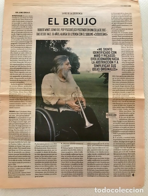 [ROBERT WYATT: ]. ENTREVISTA POR LA PUBLICACIÓN DE CUCKOOLAND. LA LUNA, 7 DE NOVIEMBRE DE 2003 (Música - Revistas, Manuales y Cursos)