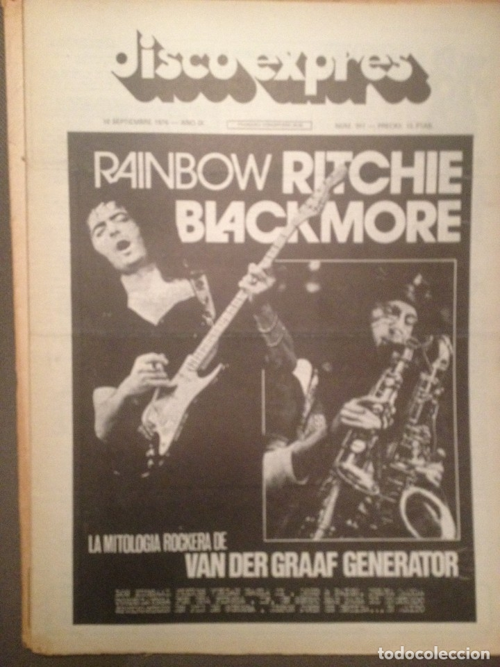 DISCO EXPRES 391 DEEP PURPLE RITCHIE BLACKMORE,VAN DER GRAAF GENERATOR,FESTIVAL TORRELAVEGA,GIRONA, (Música - Revistas, Manuales y Cursos)