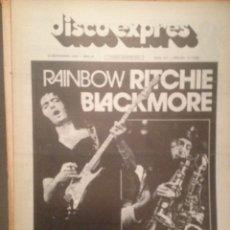 Revistas de música: DISCO EXPRES 391 DEEP PURPLE RITCHIE BLACKMORE,VAN DER GRAAF GENERATOR,FESTIVAL TORRELAVEGA,GIRONA,. Lote 180332947