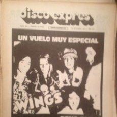 Revistas de música: DISCO EXPRES 343 WINGS, WAYLON JENNINGS,PINK FLOYD,LEROI JONES,GONG BLUES,PETE SEEGER,ROCK POLACO. Lote 180337880