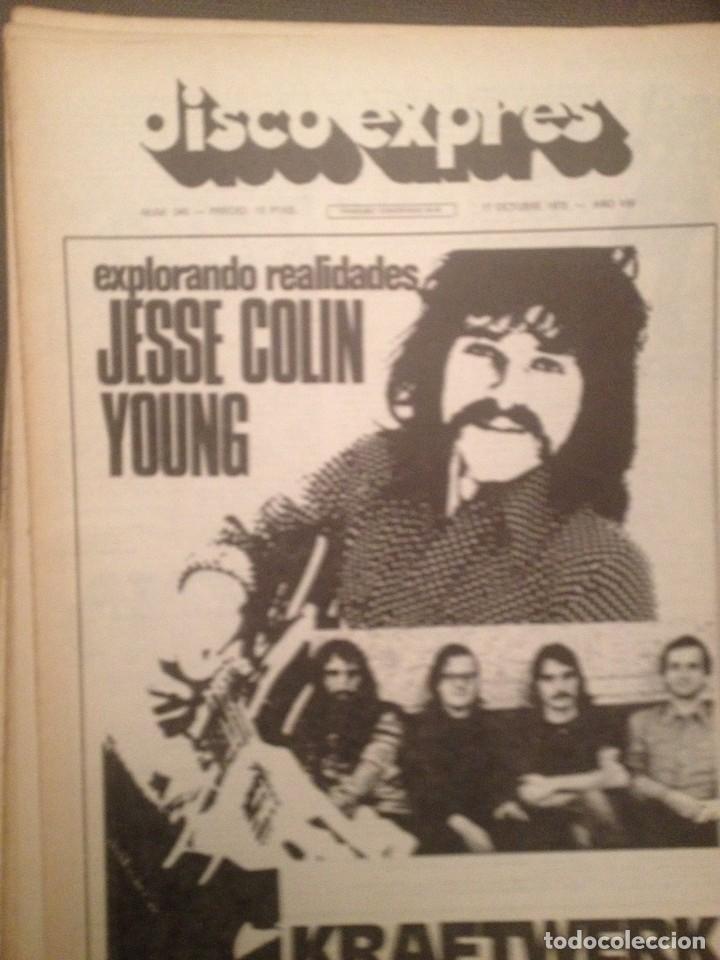 DISCO EXPRES 346:JESSIE COLIN YOUNG,KRAFTWERK,BEE GEES,STEVE HARLEY,NOVA CANTIGA GALEGA,A.PRADA,BAEZ (Música - Revistas, Manuales y Cursos)