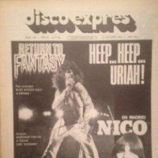 Revistas de música: DISCO EXPRES 348: URIAH HEEP, NICO, COMMANDER CODY, RICK WAKEMAN, THE WHO, JEAN-LUC PONTY, ZZEBRA. Lote 180340842