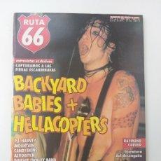 Revistas de música: RUTA 66 - Nº 145 - BACKYARD BABIES, HELLACOPTERS, PJ HARVEY, AEROBITCH, MUDHONEY, KEVIN AYERS. Lote 180402557