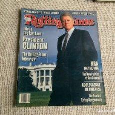 Revistas de música: ROLLING STONE, REVISTA DE MUSICA ( EDICION EN INGLES ) EDITADA DECEMBER 1993 PRESIDENT BILL CLINTON. Lote 22764556
