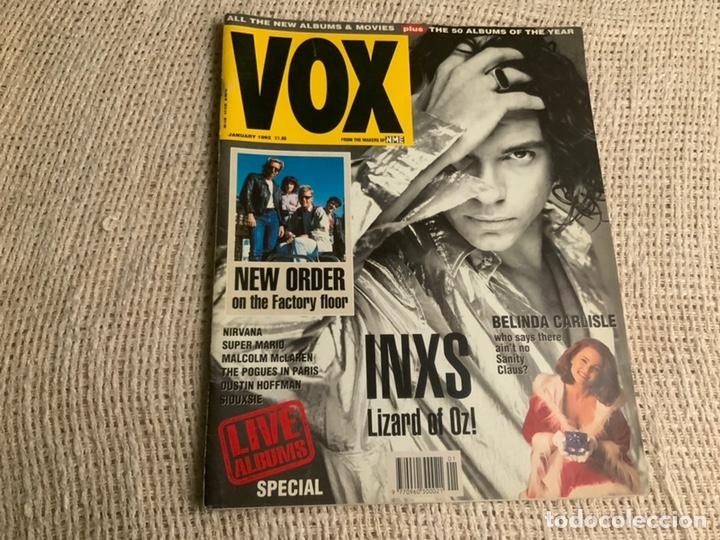 VOX , REVISTA DE MUSICA ( EDICION EN INGLES ) - EDITADA JANUARY 1991 -MANTIENE SUPLEMENTO CENTRAL (Música - Revistas, Manuales y Cursos)