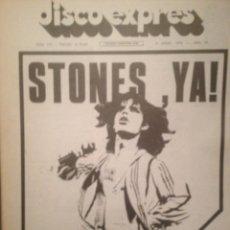 Revistas de música: DISCO EXPRES 378:ROLLING STONES,THE METERS, YARDBIRDS,JETHRO TULL, IAN ANDERSON ROBIN TROWER. Lote 180495195